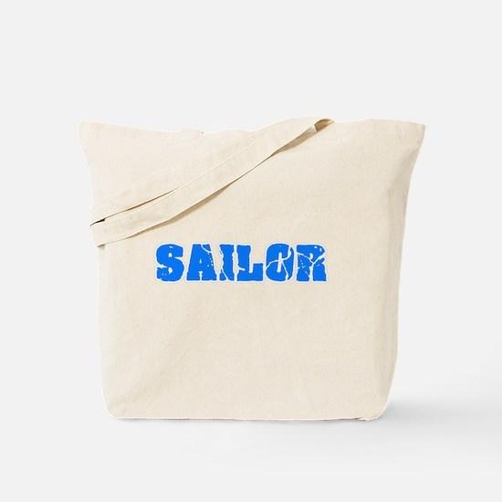 Sailor Blue Bold Design Tote Bag