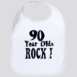90 Year Olds Rock ! Bib