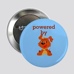 """Powered By Dogs 2.25"""" Button"""