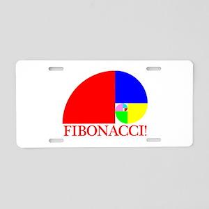 Fibonacci! Golden Ratio Aluminum License Plate