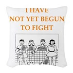 badminton Woven Throw Pillow