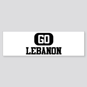 GO LEBANON Bumper Sticker