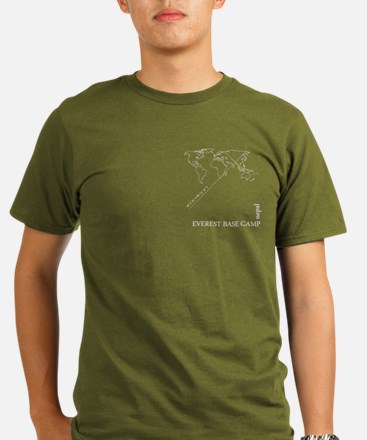 Everest Base Camp geocode T-Shirt