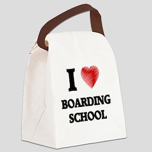 I Love BOARDING SCHOOL Canvas Lunch Bag