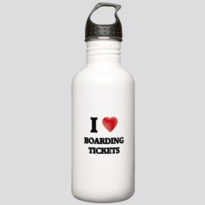 I Love BOARDING TICKET Stainless Water Bottle 1.0L