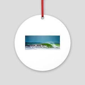 Costa Rica Wave Round Ornament