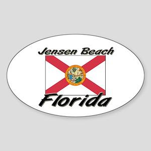 Jensen Beach Florida Oval Sticker