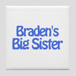 Braden's Big Sister Tile Coaster