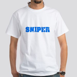Sniper Blue Bold Design T-Shirt