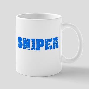 Sniper Blue Bold Design Mugs