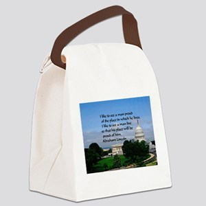 National Pride Canvas Lunch Bag