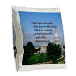 National Pride Burlap Throw Pillow