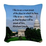 National Pride Woven Throw Pillow