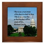 National Pride Framed Tile