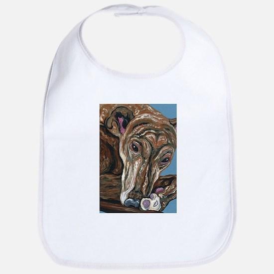 Brindle Greyhound Bib