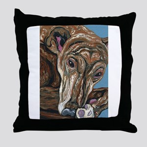 Brindle Greyhound Throw Pillow