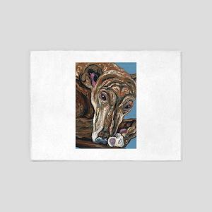 Brindle Greyhound 5'x7'Area Rug