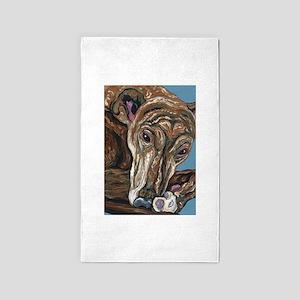 Brindle Greyhound Area Rug