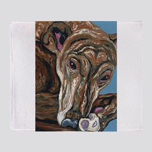 Brindle Greyhound Throw Blanket