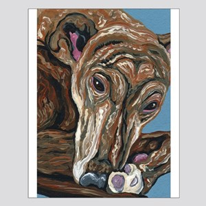 Brindle Greyhound Small Poster