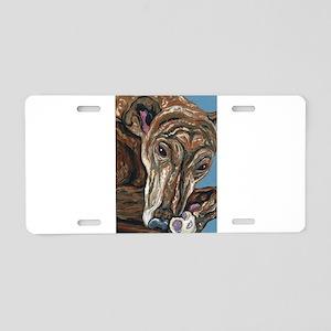 Brindle Greyhound Aluminum License Plate