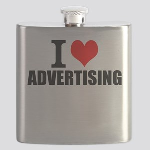 I Love Advertising Flask
