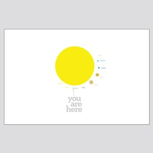 Solar system to scale Posters