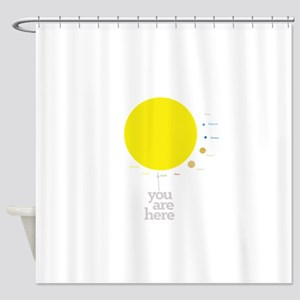 Solar system to scale Shower Curtain