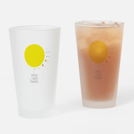 Solar system to scale Drinking Glass