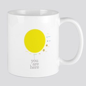 Solar system to scale Mugs