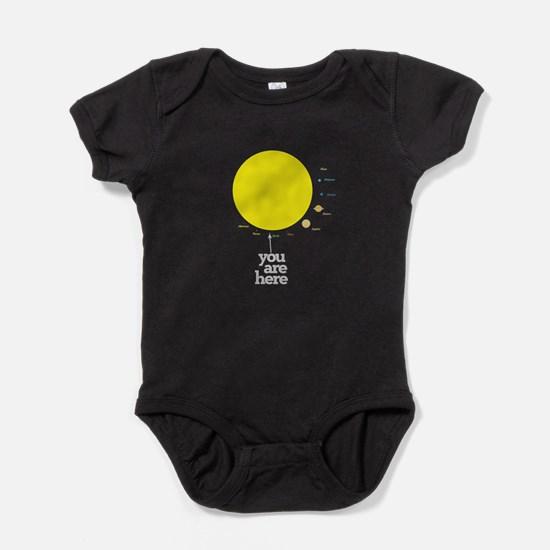 Solar system to scale Baby Bodysuit
