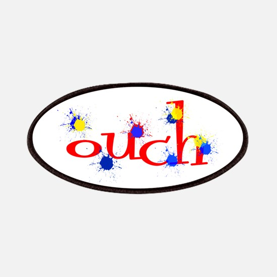 ouch red yellow blue paintball Patch