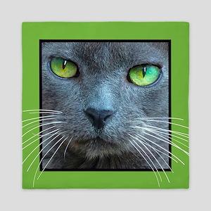Gray Cat Queen Duvet