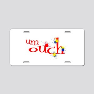 um ouch paintball Aluminum License Plate