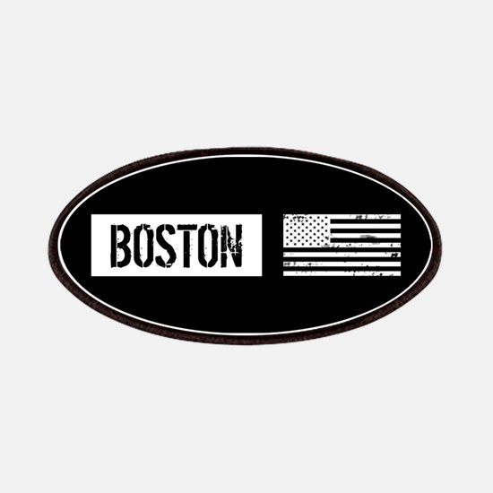 Boston with Black & White U.S. Flag Patch