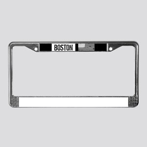 Boston with Black & White U.S. License Plate Frame
