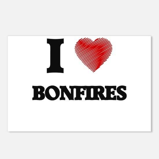 I Love BONFIRES Postcards (Package of 8)