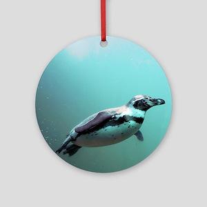 Penguin Round Ornament