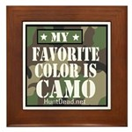 My Favorite Color Is Camo Framed Tile