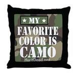 My Favorite Color Is Camo Throw Pillow