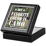 My Favorite Color Is Camo Keepsake Box