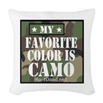 My Favorite Color Is Camo Woven Throw Pillow