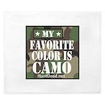 My Favorite Color Is Camo King Duvet