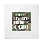 My Favorite Color Is Camo Queen Duvet