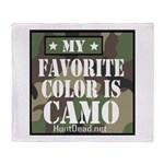 My Favorite Color Is Camo Throw Blanket