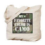 My Favorite Color Is Camo Tote Bag