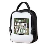My Favorite Color Is Camo Neoprene Lunch Bag