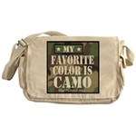 My Favorite Color Is Camo Messenger Bag
