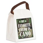 My Favorite Color Is Camo Canvas Lunch Bag