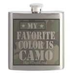 My Favorite Color Is Camo Flask